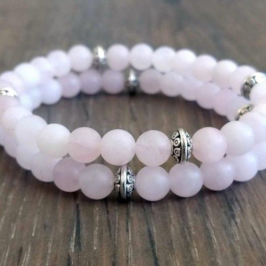 Rose Quartz beaded bracelets