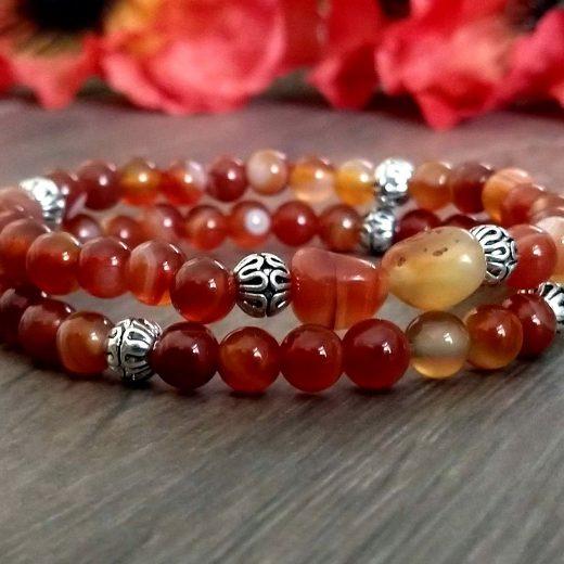 oranage beaded bracelets