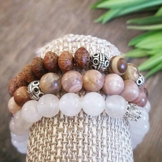 Bodhi Beads with Sunstone & Clear Quartz Bracelet