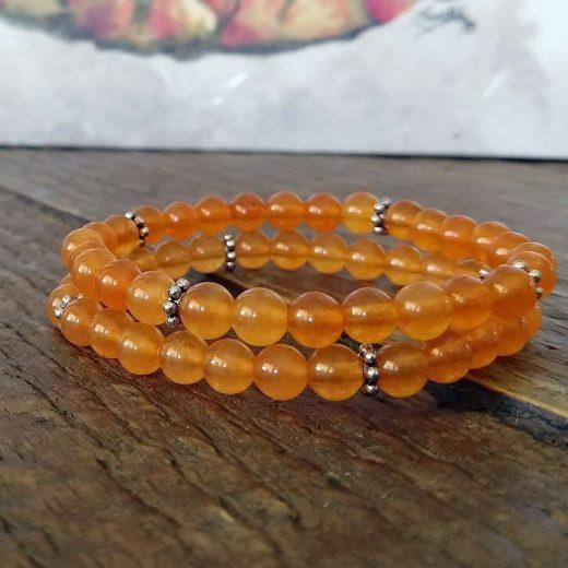 Orange beaded bracelets