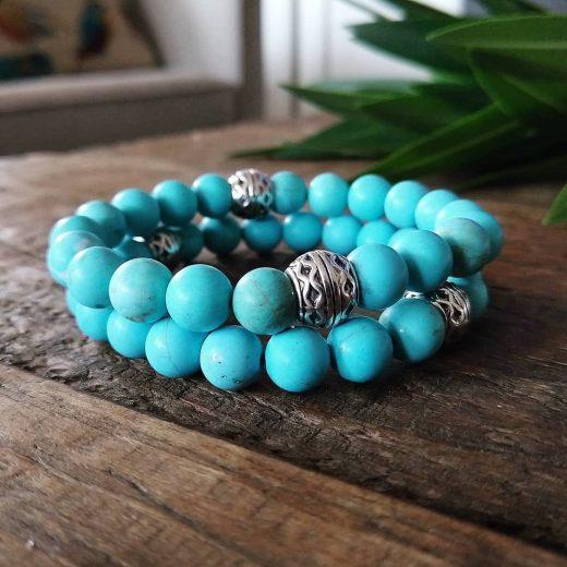 Turquoise beaded bracelets