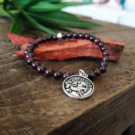handmade capricorn charm bracelet
