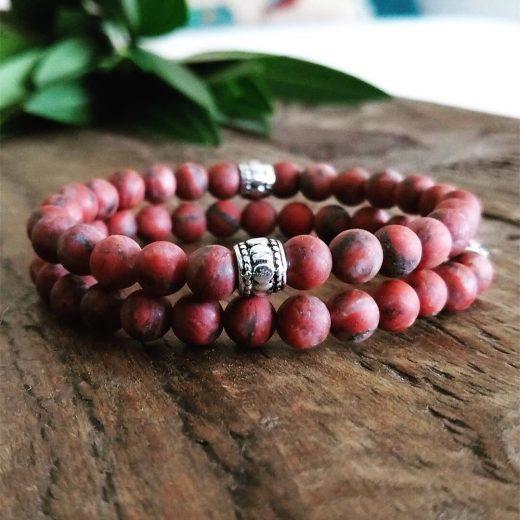Matte Red Jasper Bracelet