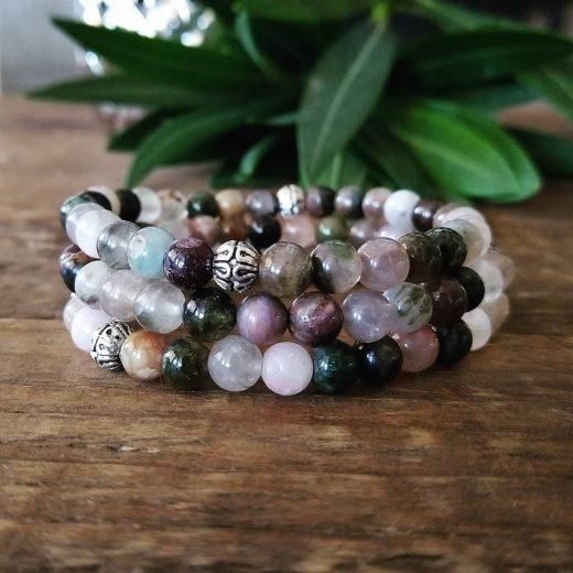 tourmaline bracelet set of three