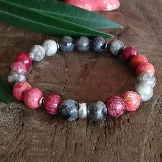 beaded gemstone bracelet