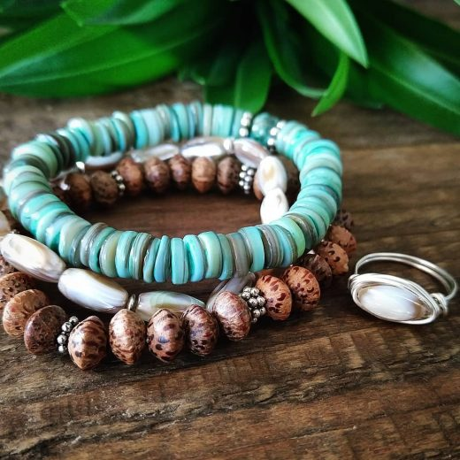 beaded bracelets with ring