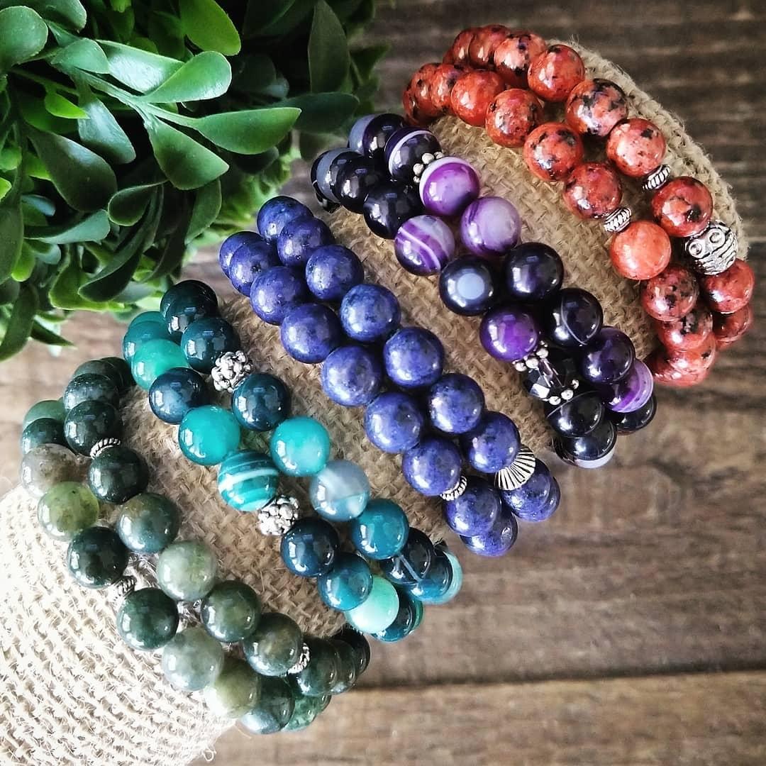 Colorful Gemstone Bracelet Sets