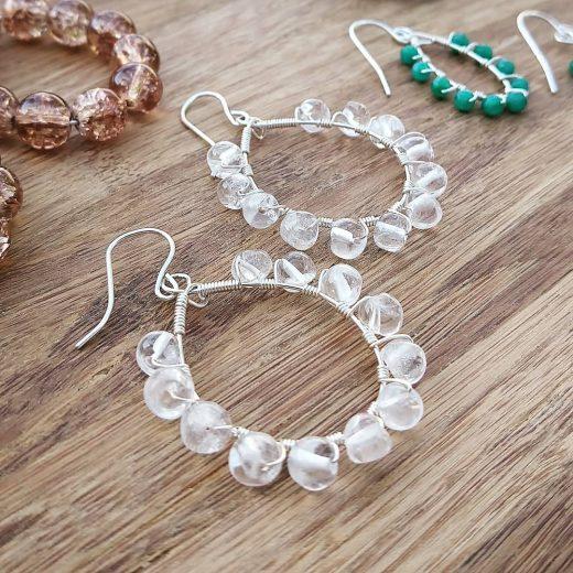 Sparkle Quartz Sterling Silver Earrings