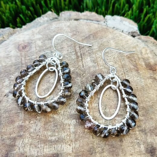 Smokey Quartz Sterling Silver Earrings
