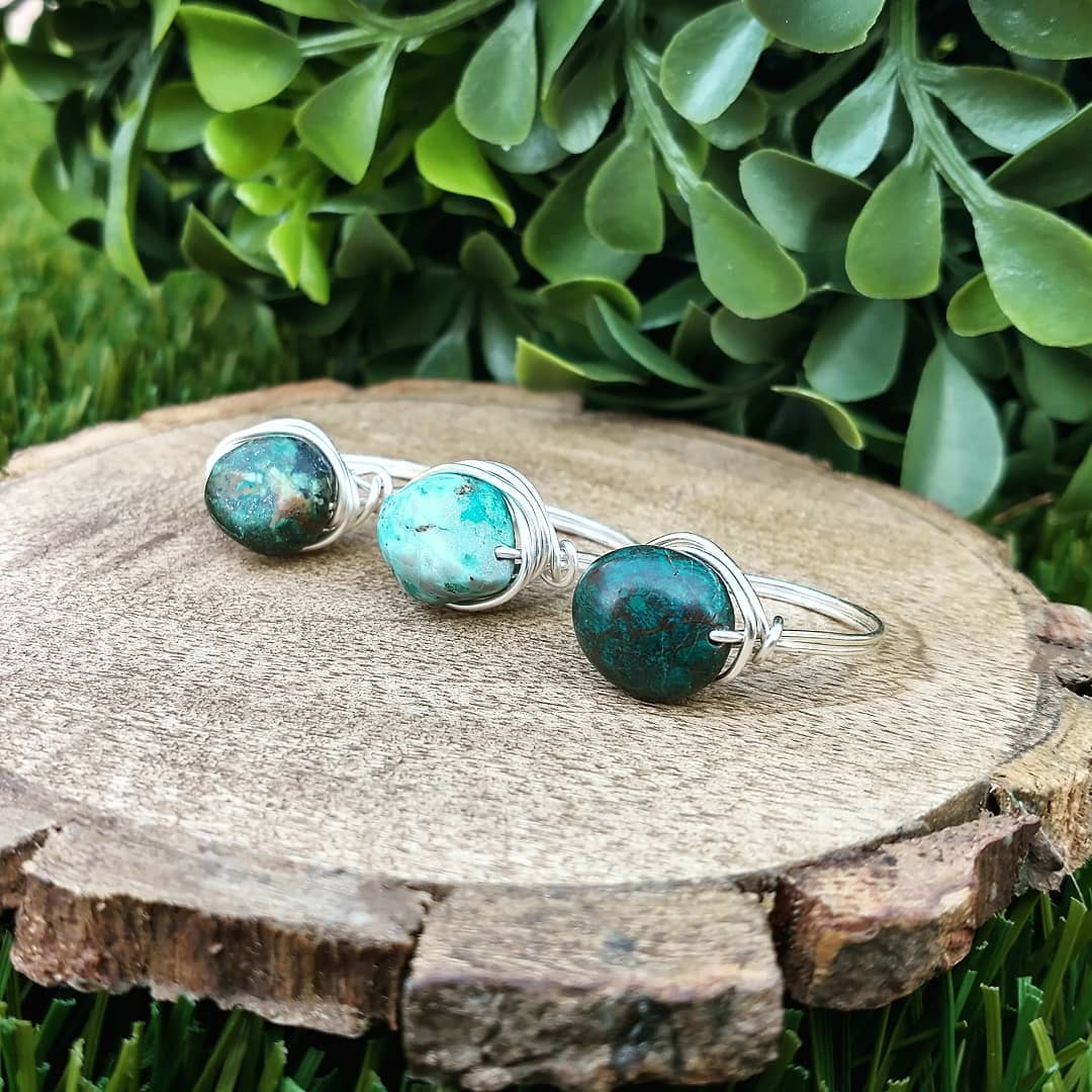 Turquoise Wire-Wrapped Rings