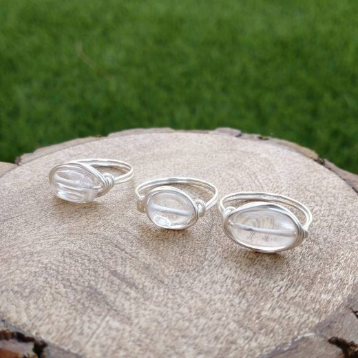 Quartz Wire-Wrapped Rings