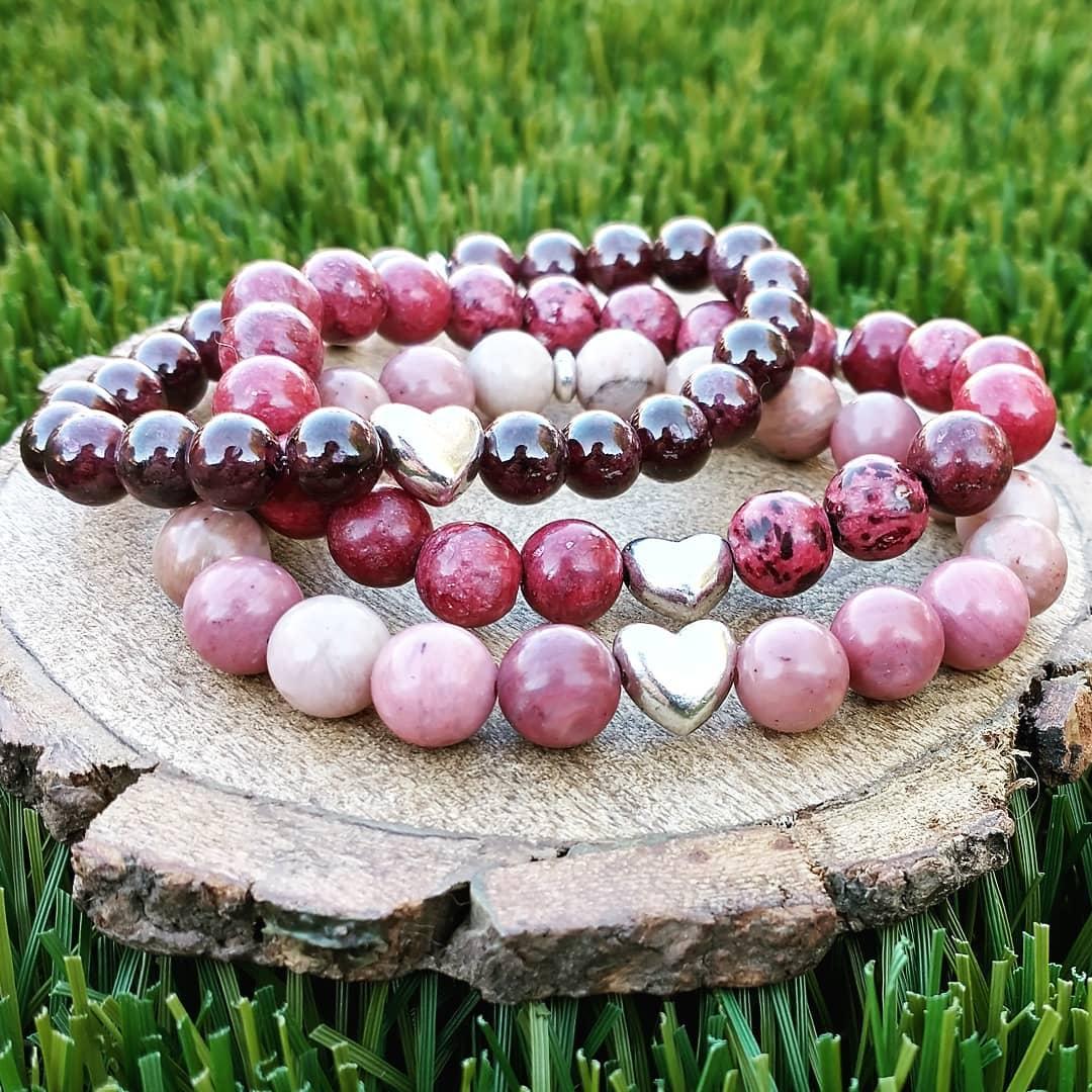 Heart Gemstone Bracelets