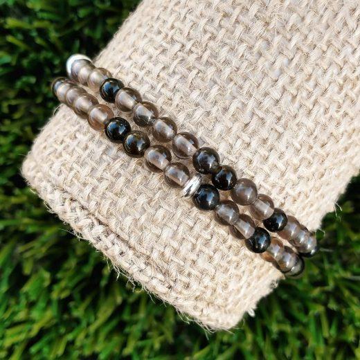 Ice Obsidian Bracelet Set