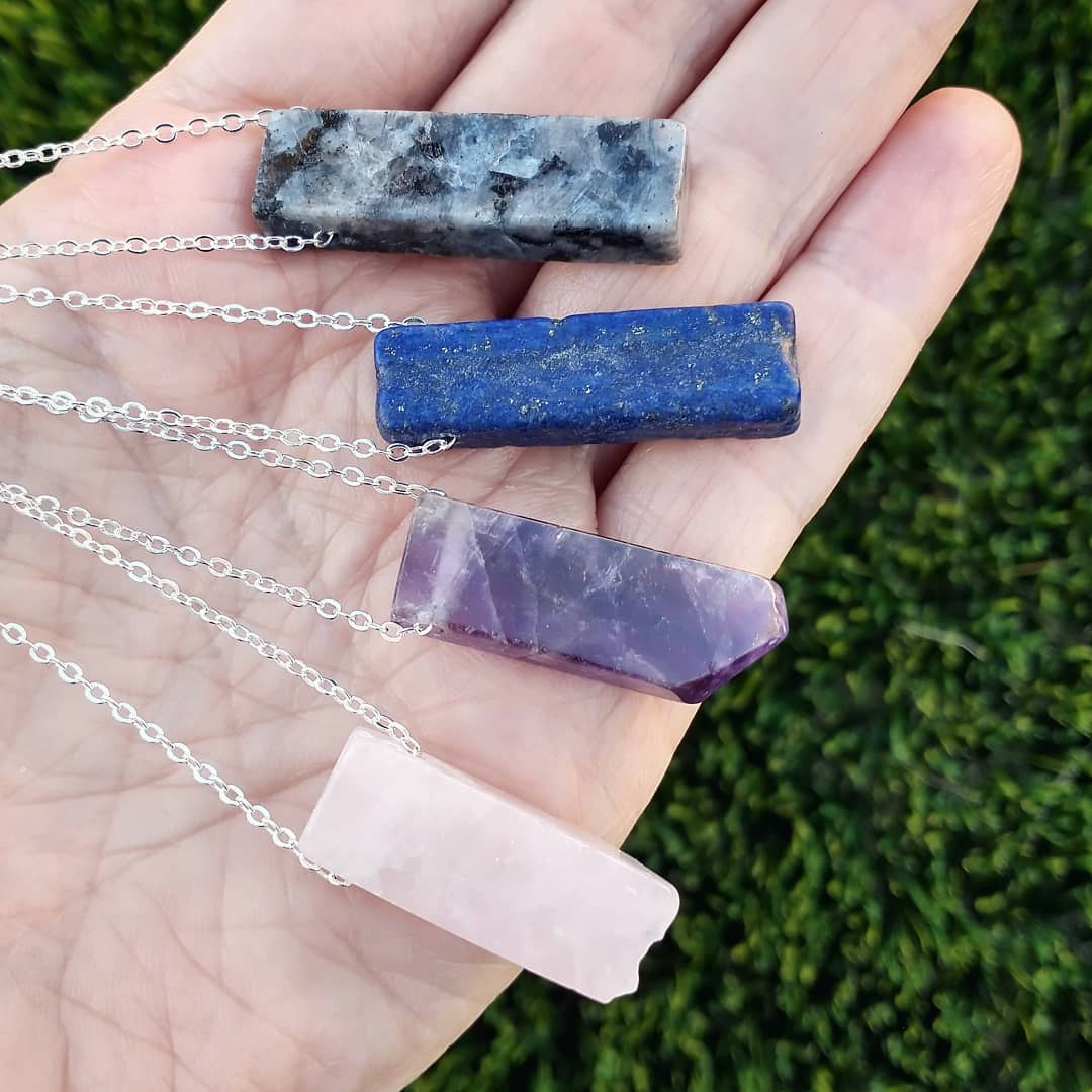 Gemstone Sterling Silver Necklaces