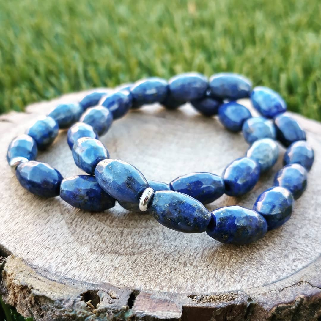 Lapis Faceted Ovals Bracelets