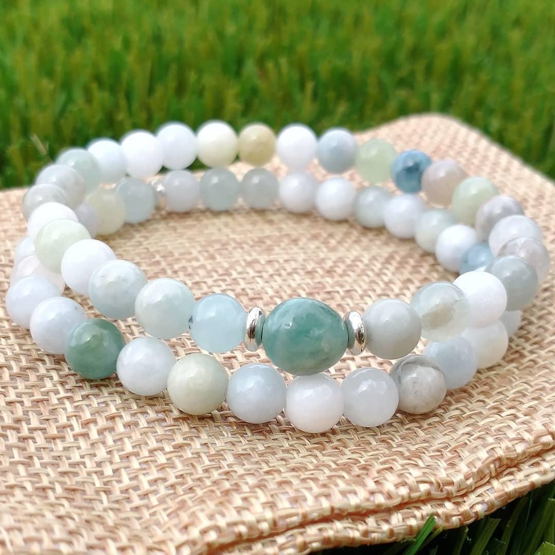 Aquamarine Bracelet Set