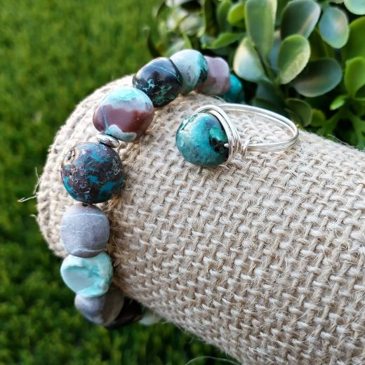 Turquoise Bracelet and Turquoise Ring
