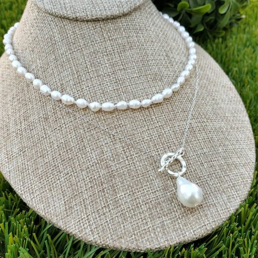 Baroque Pearl Necklace With Front Clasp