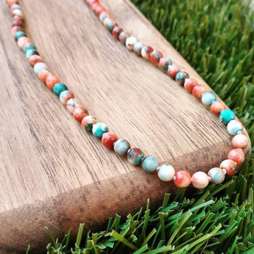 Colorful Jade Hand Knotted Necklace