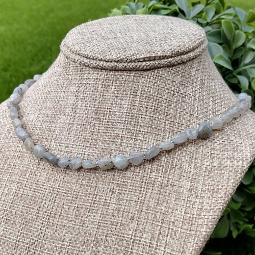Labradorite Hand Knotted Necklace