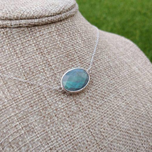 Labradorite Sterling Silver Necklace