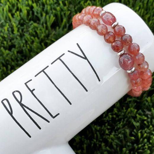 Strawberry Quartz Handmade Bracelets