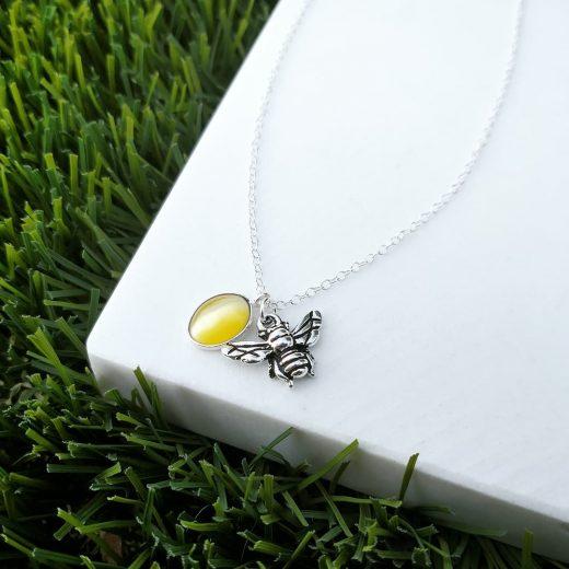 Handmade Yellow Opal Necklace